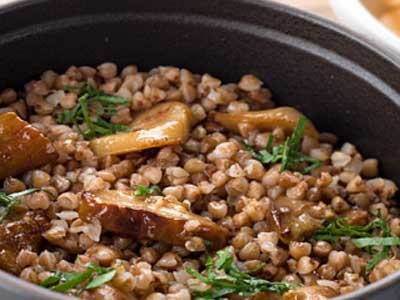 Buckwheat porridge-with-mushrooms