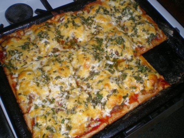 как приготовить пиццу из готового теста в духовке