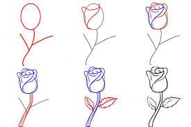 Как нарисовать на руке розу
