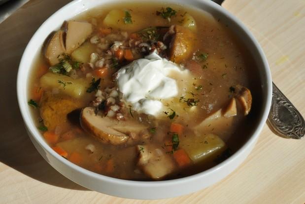 суп-из-белых-грибов-с-рисом-рубин-и-сметаной