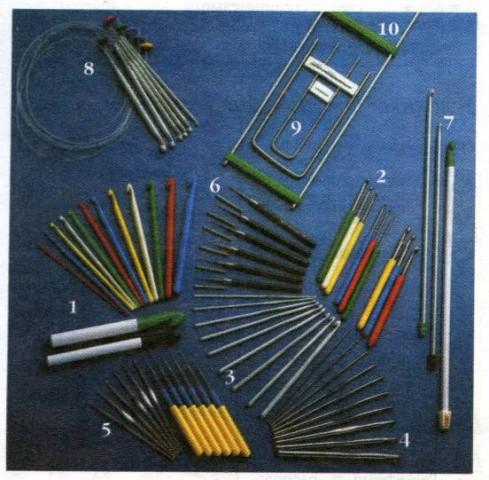 Инструменты необходимые при вязании крючком