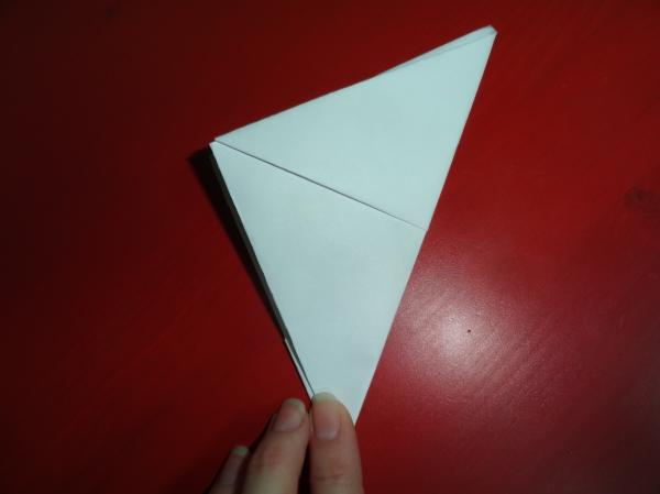 Triangle of paper