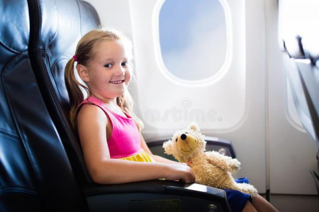 A child on the plane