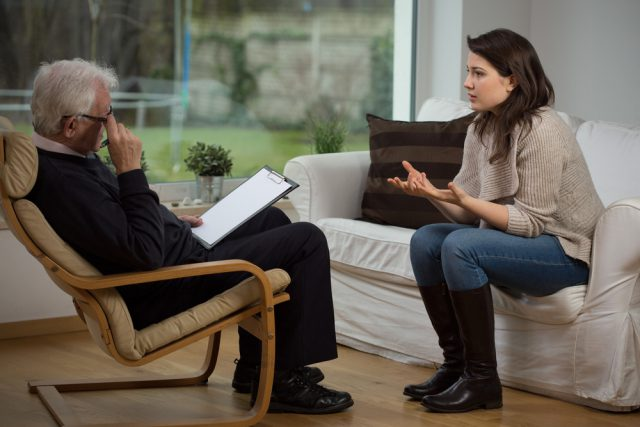 The conversation with the psychologist