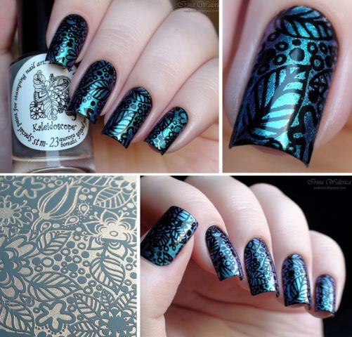 stamping on the gel