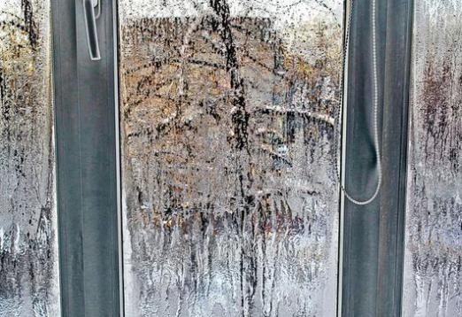 sweating windows in winter