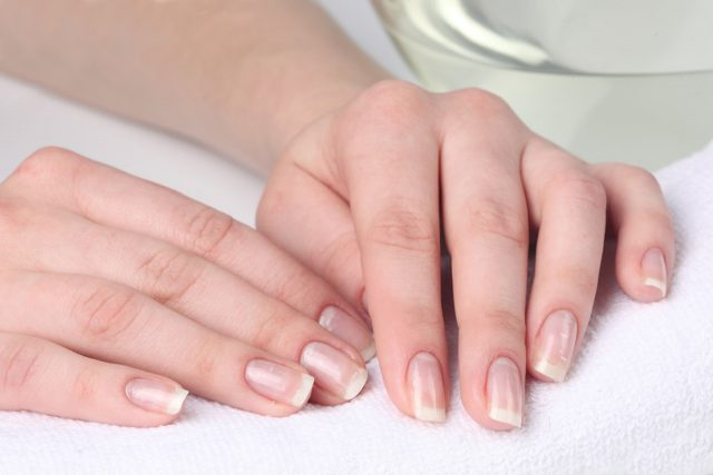 exfoliate your nails