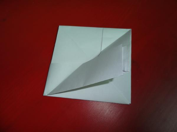 The process of making paper boats with their hands