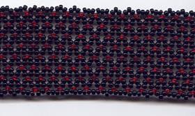 Красно-черный кружевной браслет