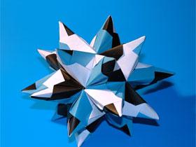 Как сделать из бумаги объемную звезду