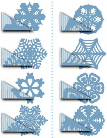 Шаблоны снежинок из бумаги