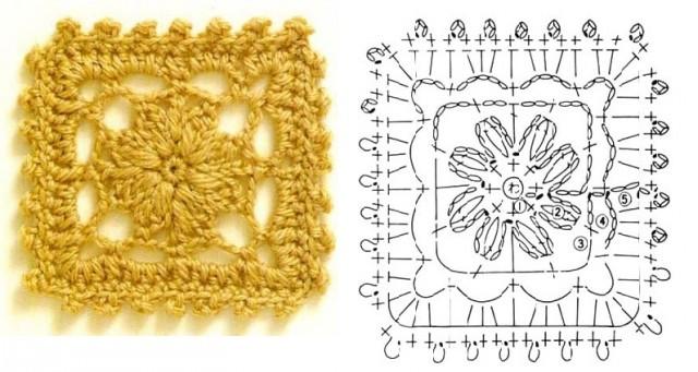 Схема ажурного квадрата 3