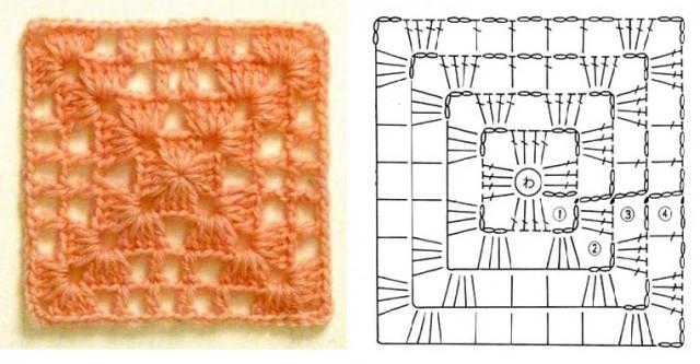 Схема ажурного квадрата 1