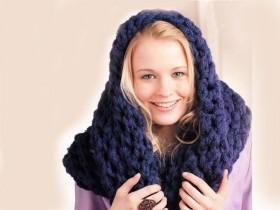 Как вязать шапку и шарф трубу спицами