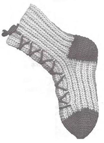 Как вязать носки крючком с манжетки