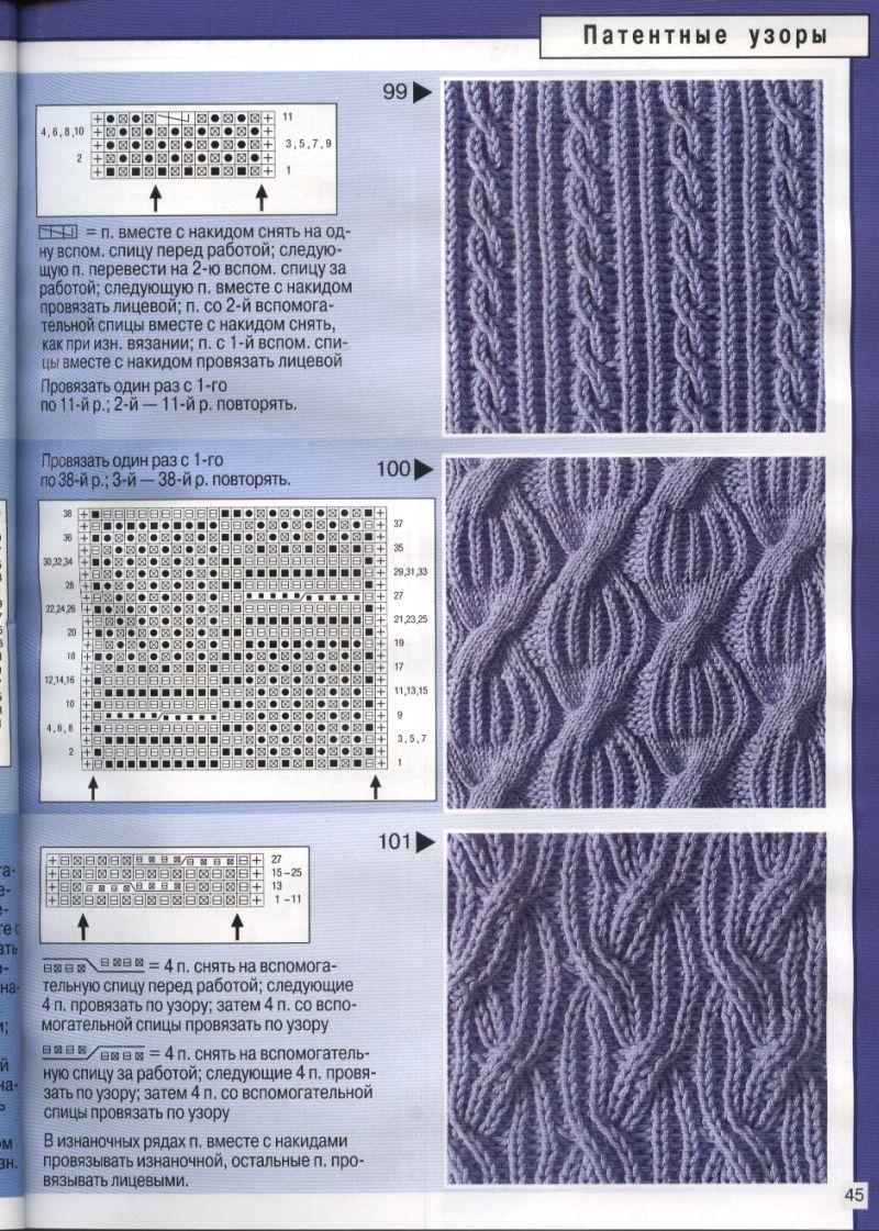 красивая схема вязания спицами