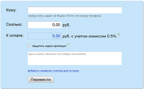 Як перавесці Яндэкс. грошы