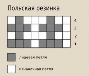 Bog'lovchi igna diagrammasi Polsha saqich kabi