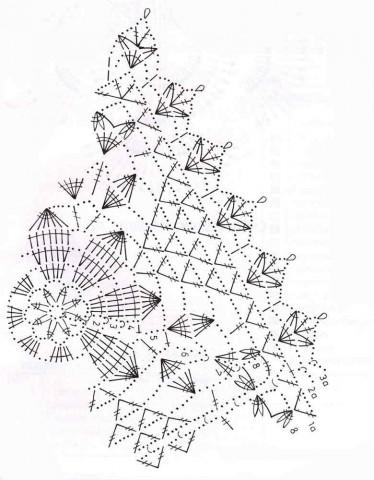 Салфетка, вязанная крючком из мотивов: схема