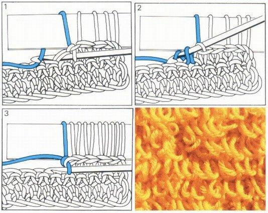 Как вязать вытянутые петли крючком - второй способ