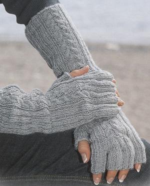 Как связать спицами перчатки без пальцев