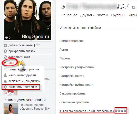 Ваш ID в Одноклассниках